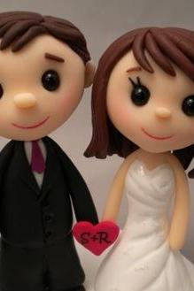 Wedding Cake Topper - Custom made - Teeny Topper Style