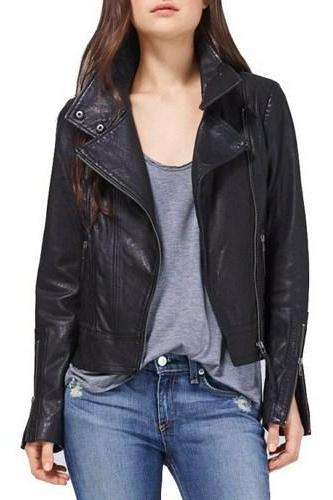 WOMEN LEATHER JACKET, REAL LEATHER JACKET black