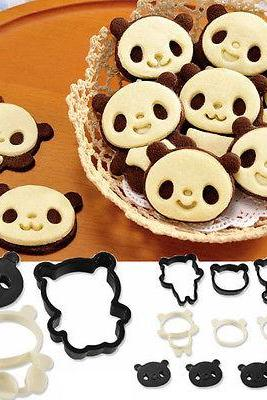 Panda Die Cut Cake Creative Cookie Biscuit Cheese Vegetable Food Cutter Mold