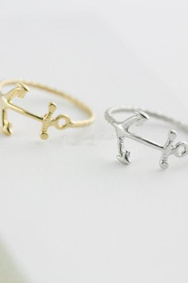 Anchor ring Jewelry Ring Little finger ring ,gold ring ,silver ring,rose gold ring