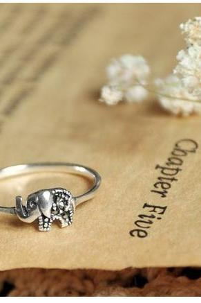 tiny 925 silver elephant ring,us size 5-8