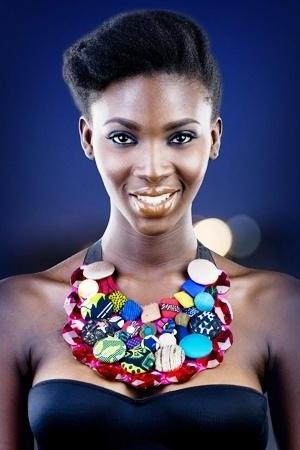 03 - Worldwide Free Shipping - Gorgeous Cotton African Dashiki Necklace