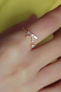 infinity Exquisite diamond ring opening ring bow ring can be adjusted