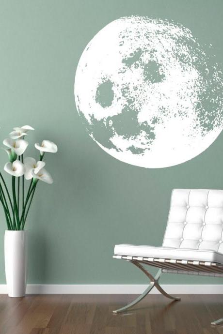 Vinyl Moon Wall Decal Sticker Home Decor for Housewares