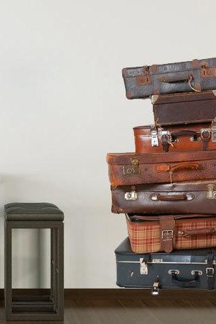Luggage , vintage bags decor wall decal for housewares - Vintage Decor Luggage