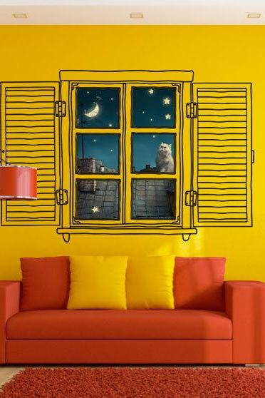 Custom Window Decoration Wall Art Print Vinyl Home Design