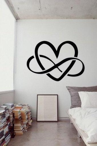 Infinity Love Vinyl Wall Sticker Heart Symbol for Housewares