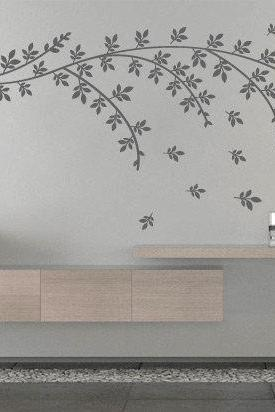 Floral Branch Wall Decal Tree Sticker for Housewares