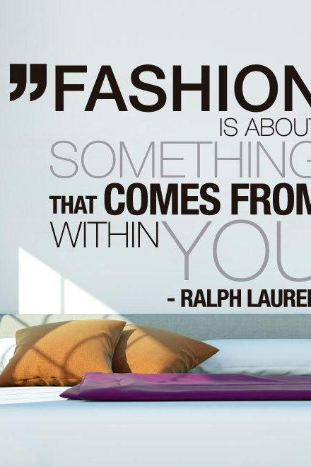 Wall Decal Quotes - Ralph Lauren Fashion Art Quote Sticker Home Decor for Housewares Vinyl Wall Decal