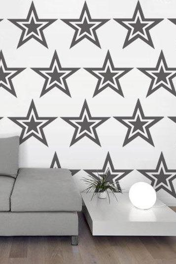 Stars Patterns Wall Decal Vinyl Sticker Geometric Shapes for Home Design Decor