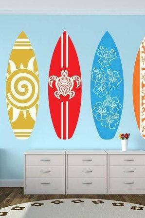 SurfBoards Wall Decal Pack Sticker for Housewares