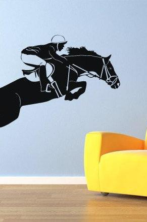 Horse Wall Art Vinyl Equestrian Sticker for Housewares