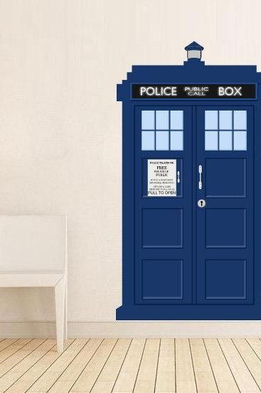 Doctor Who Tardis Police Call Box Vinyl Wall Decal Urban