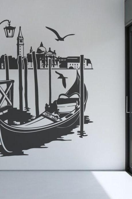 Venice Canal Wall Decor Vintage Sticker Modern Living Room