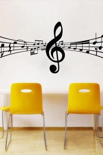 3D Music Tabs Vinyl with Notes Decal for Living Room Decoration