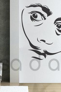 Vinyl Silhouette Wall Decal Salvador Dali Sticker for Homewares