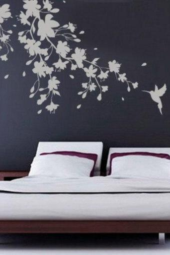 Sakura Floral Decal Oriental Sticker for Asian Home Decoration