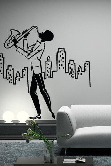 Jazz in the City Vintage Decal for Housewares
