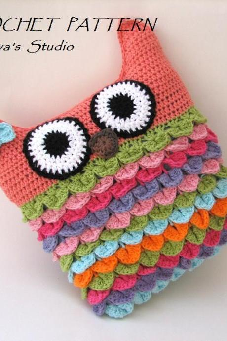 Crochet owl pillow pattern, PDF crochet pattern, owl pillow, owl soft toy pattern DIY tutorial