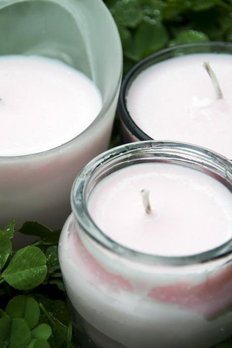 Pomegranate Soy Candles, in Various Containers