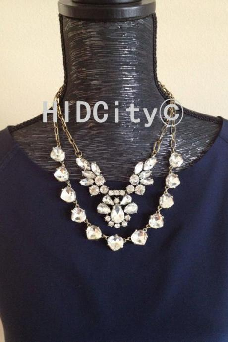 Crystal necklace set,statement necklace.Bid necklace,Bid bubble neckalce.Fashion neckalce.