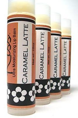 Caramel Latte LipBalm, Coffee flavor with a jolt of caramel, moisturizing recipe