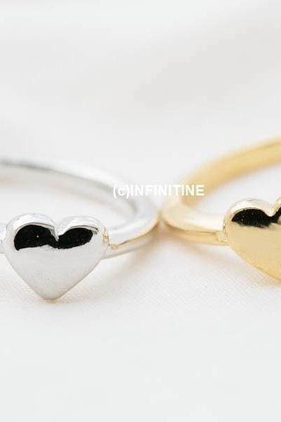6mm cute heart knuckle ring,RN2521