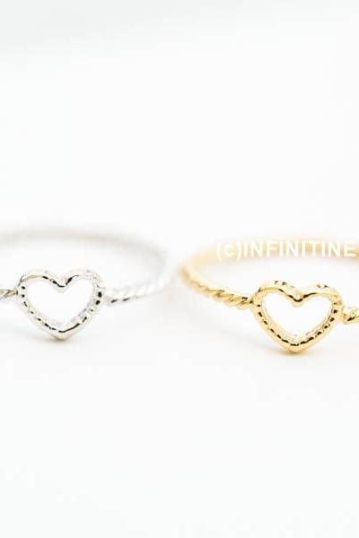 twisted heart ring ,RN2441