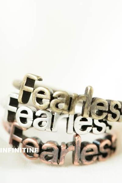 Vintage fearless knuckle ring,RN2584