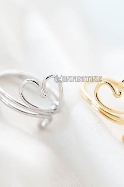 heart band adjustable ring,RN2569