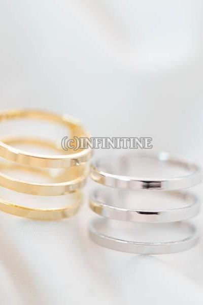 three line knuckle ring,RN2567