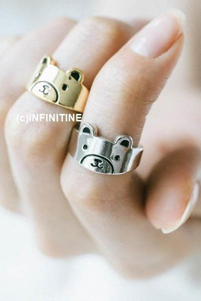 baby bear knuckle ring,RN2550