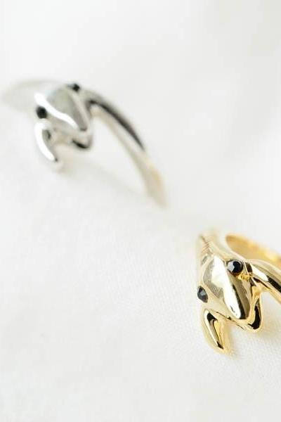 Snake biting tail knuckle ring,RN2536
