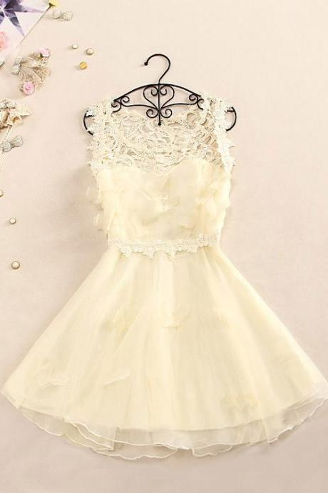 Sweet princess dress organza embroidery lace dress is female