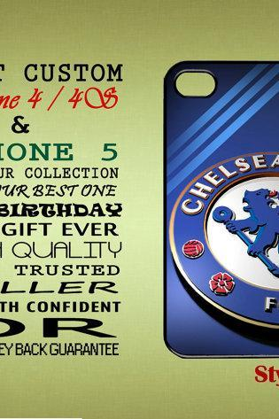 Chelsea FC, Football, Fan Club, Soccer Custom Iphone 4, 4S & Iphone 5, 5s, 5c Casing, Case, Samsung S3, S3 Mini, Samsung S4 CaseBlack Casing