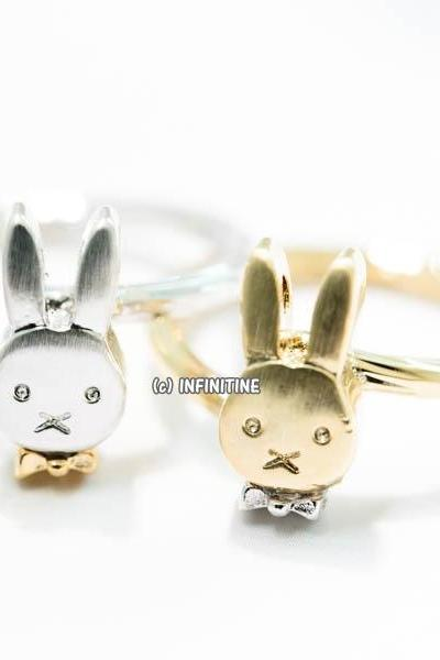 bunny rabbit in bow tie ring,RN2577