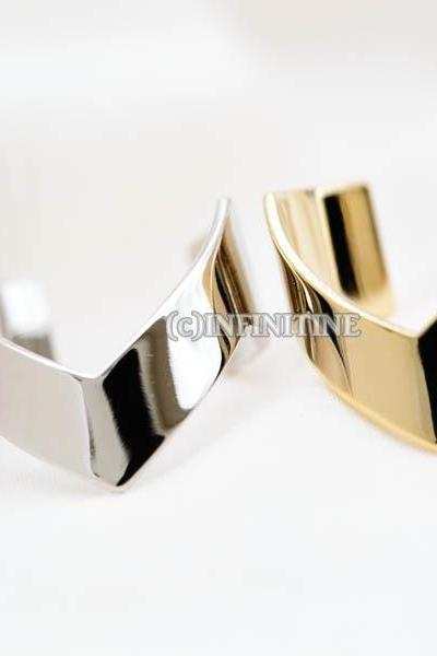 wide flat chevron adjustable ring,RN2568