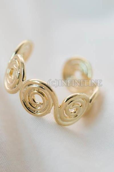 Inca spiral adjustable ring,RN2565