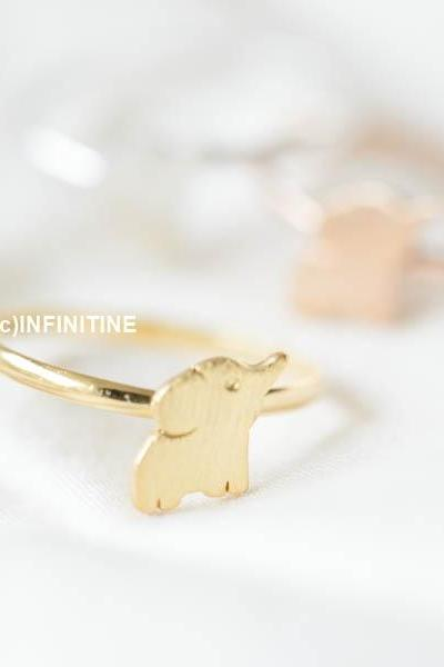mini cute elephant adjustable ring,RN2560