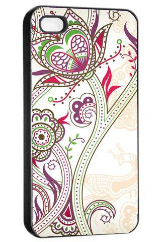 Retro Floral Swirl Art - Hard Cover Case for iPhone 4, 4S & more