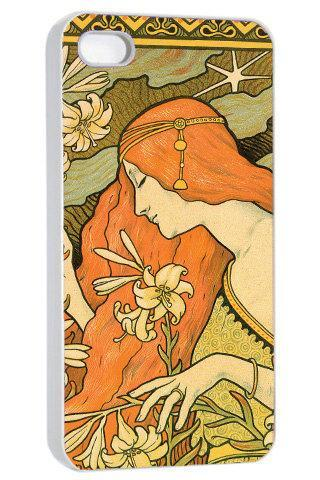 Paris Vintage Retro Art Deco Illustration - Hard Cover Case for iPhone 4, 4S & more
