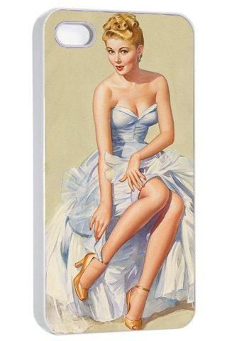Retro Pinup Pretty Girl - Hard Cover Case for iPhone 4, 4S & more