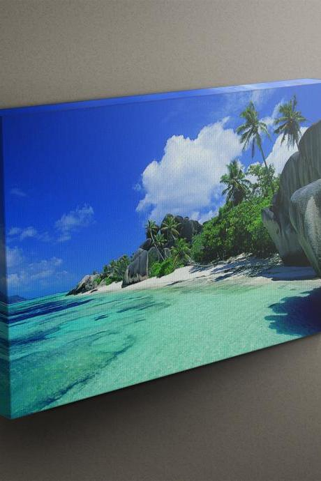 Tropical Beach - Fine Art Photograph on Gallery Wrapped Canvas - 16x12' & more