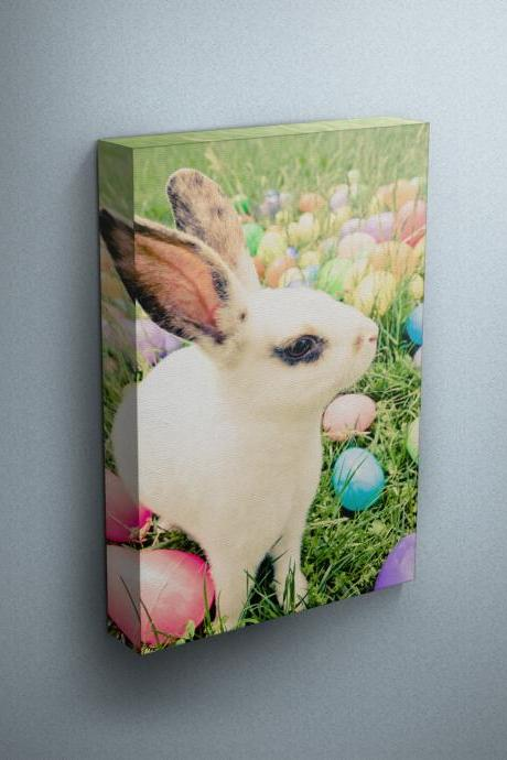 Easter Bunny - Fine Art Photograph on Gallery Wrapped Canvas - 16x12' & more