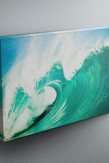 Breaking Waves - Fine Art Photograph on Gallery Wrapped Canvas - 16x12' & more