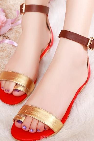 Stylish leather thong flat sandals SS05172SH