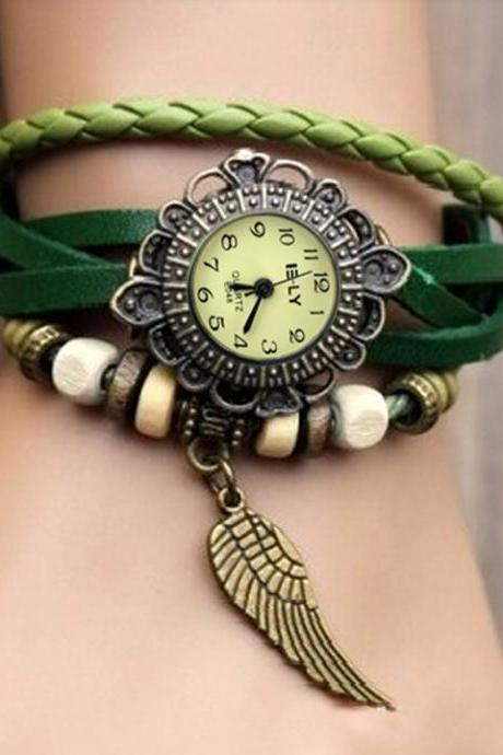 Women's Leather Bracelet Wrist Watch