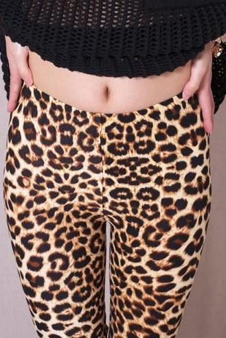 sexy leopard Print Leggings stretchy slim pants women's fashion free shipping ZFY048