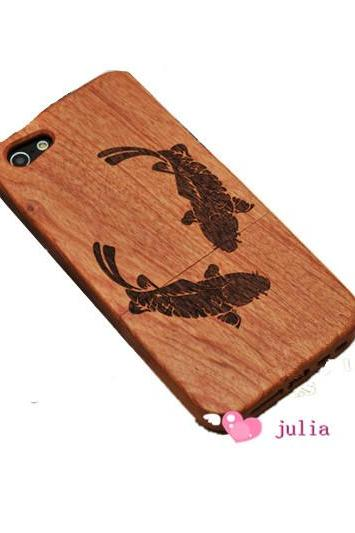 fish wood case bamboo case iphone 4/4s/5/5s/5c,samsung s3/s4 case, samsung note 2/note 3 case