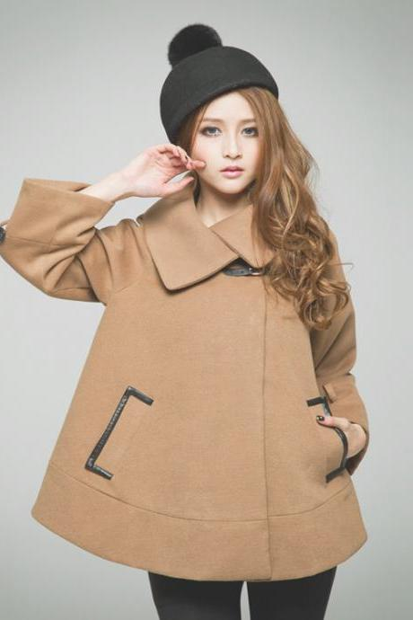 Temperament Of Cultivate One's Morality Show Thin Shawl Cloak Thick Woolen Cloth Cashmere Coat